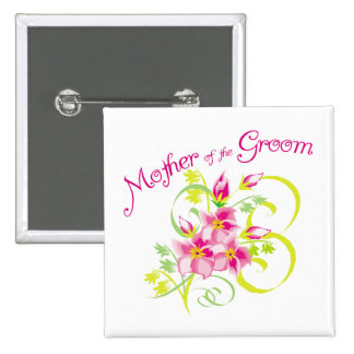 Paradise Mother of the Groom Gifts Button