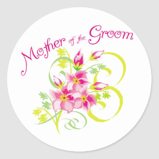 Paradise Mother of the Groom Gifts Classic Round Sticker