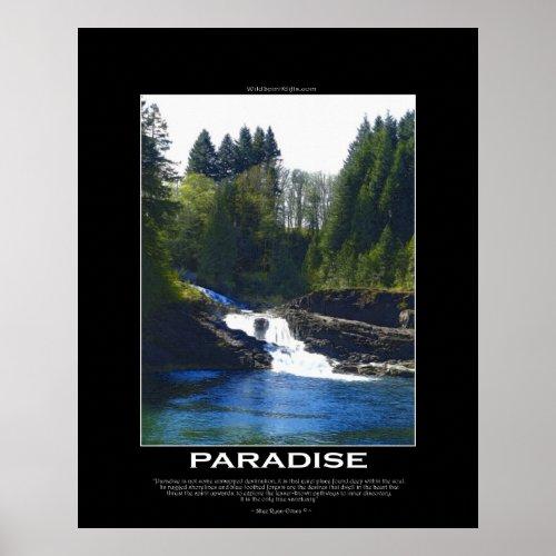 PARADISE Motivational Art Poster with poem print