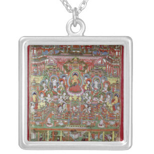 Paradise of Amitabha Silver Plated Necklace
