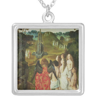 Paradise of the Symbolic Fountain Silver Plated Necklace