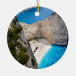 Paradise Double-Sided Ceramic Round Christmas Ornament