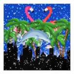 Paradise Party in Style Bright Lights - SRF 5.25x5.25 Square Paper Invitation Card