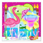 Paradise PARTY / Luau - SRF 5.25x5.25 Square Paper Invitation Card