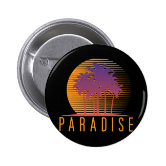 Paradise Pinback Buttons