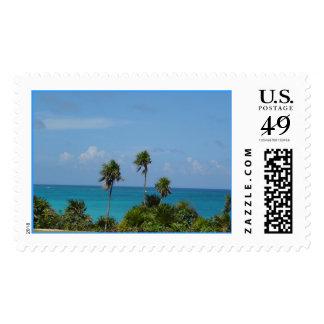paradise postage stamp
