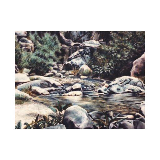 Paradise - Quiet Pool in Woods Canvas Print