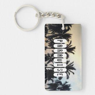 PARADISE Rectangle (single-sided) Keychain