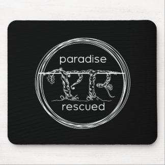 Paradise Rescued Logo on black Mouse Pad