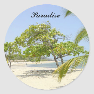 Paradise Round Stickers