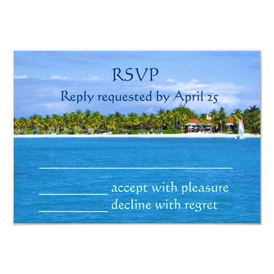 Paradise RSVP Card
