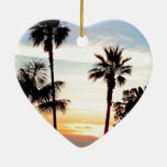 Paradise Sunset Christmas Tree Ornament