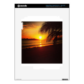 Paradise sunset decal for iPad 3