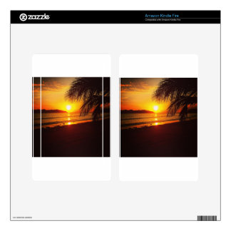 Paradise sunset decals for kindle fire