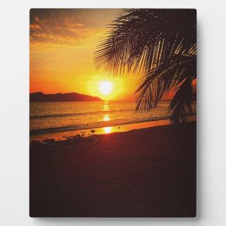 Paradise sunset plaques