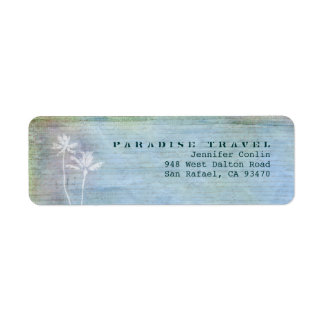 Paradise Travel Return Address Labels