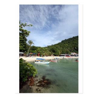 Paradise tropical beach Perhentian Island Post Cards