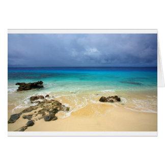 Paradise tropical island beach card