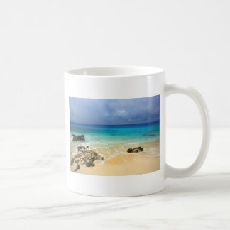 Paradise tropical island beach coffee mug