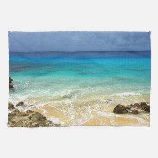 Paradise tropical island beach hand towels