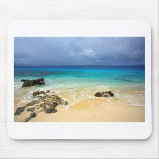 Paradise tropical island beach mouse pad