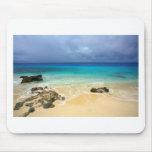 Paradise tropical island beach mousepad