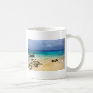 Paradise tropical island beach classic white coffee mug