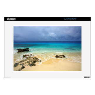 """Paradise tropical island beach decals for 15"""" laptops"""
