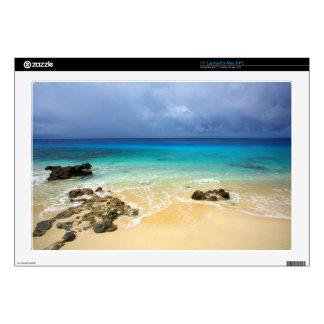 "Paradise tropical island beach decal for 17"" laptop"