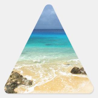Paradise tropical island beach triangle sticker