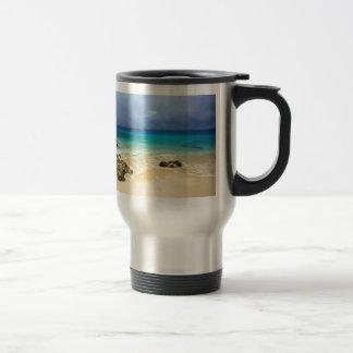 Paradise tropical island beach travel mug