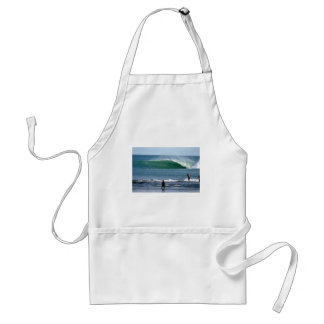 Paradise tropical island green surfing wave adult apron