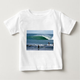 Paradise tropical island green surfing wave infant t-shirt