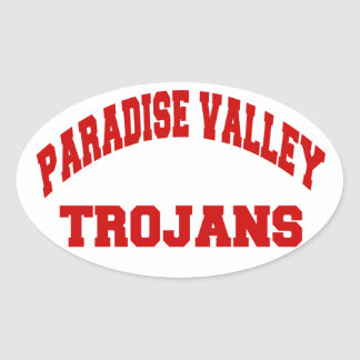 Paradise Valley Trojans Oval Sticker