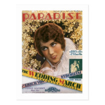 Paradise Vintage Songbook Cover Postcard