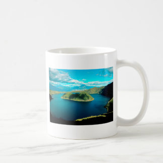 Paradise volcano crater lake coffee mug