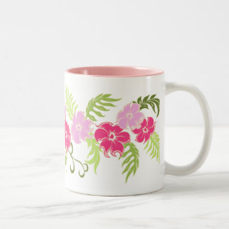 Paradiso Hawaiian Hibiscus Band Two-Tone Coffee Mug