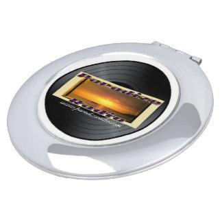 Paradize Vinyl/Record Logo Round Compact Mirror