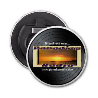(Paradize Vinyl/Record) Magnet with bottle opener Button Bottle Opener