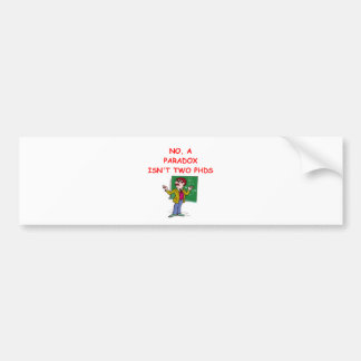 paradoja etiqueta de parachoque