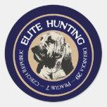 Parador de la caza de la élite etiqueta