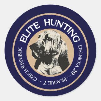 Parador de la caza de la élite etiqueta redonda