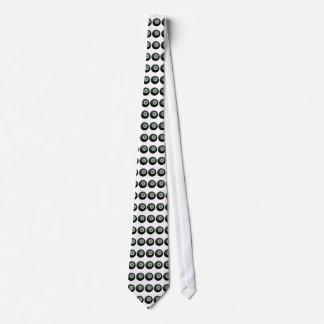 Paradoxical shamrock eight-ball design tie