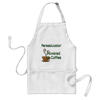 Paraeducator Powered by Coffee Adult Apron