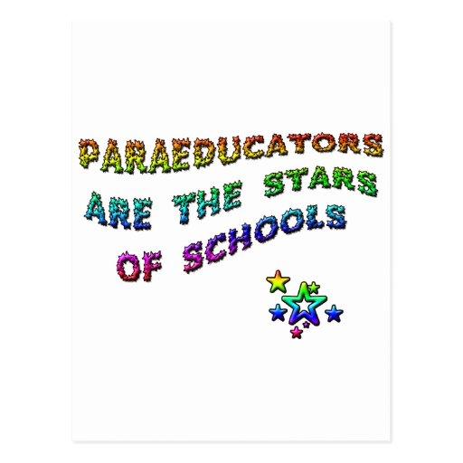 PARAEDUCATORS ARE THE STARS OF SCHOOLS POSTCARD