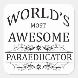 Paraeductor más impresionante del mundo pegatina cuadrada