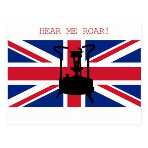 "Paraffin Pressure stove "" HEAR ME ROAR "" Postcards"