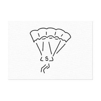 paraglider flier more paraglider canvas print