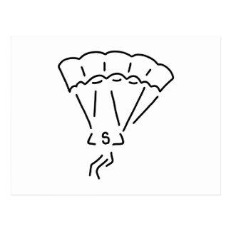 paraglider flier more paraglider postcard