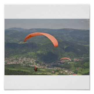 Paraglider in the Black Forest Poster